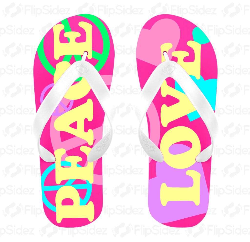 Peace & Love Flip Flops