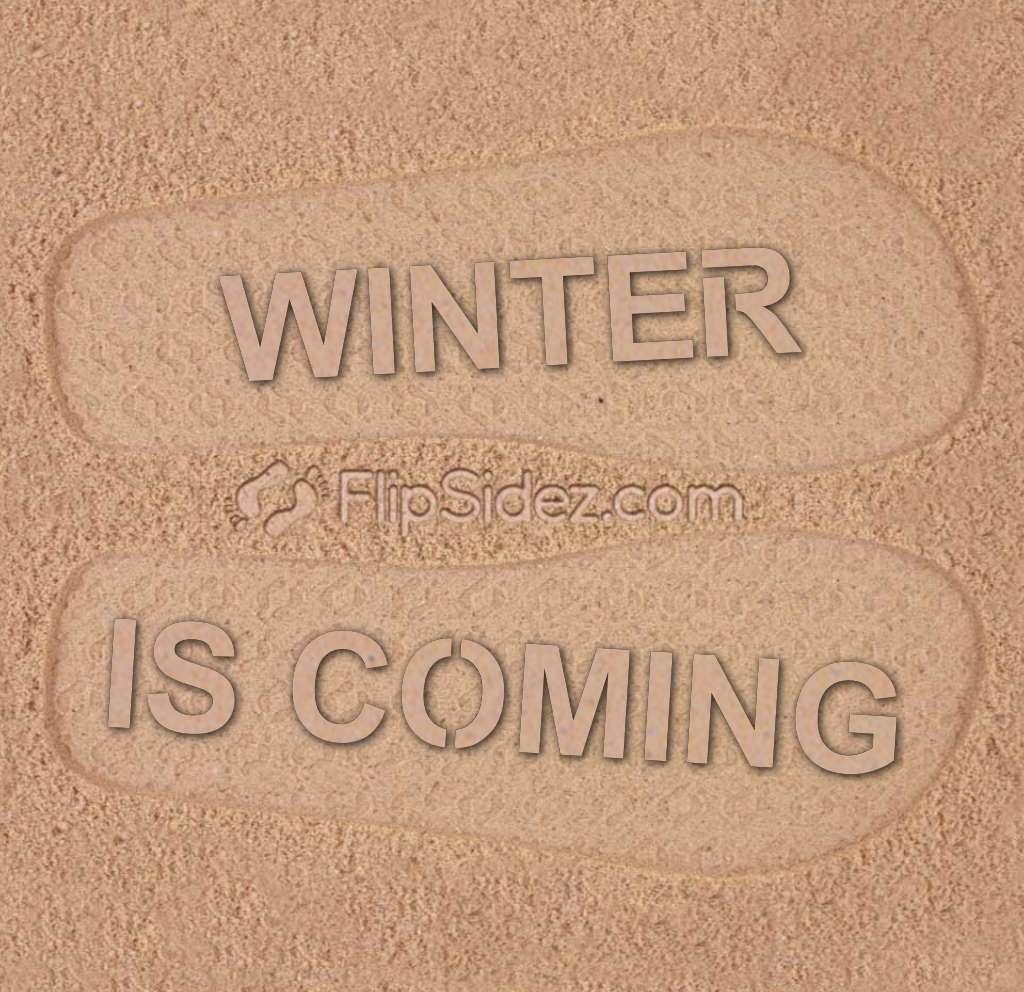WINTER IS COMING Flip Flops