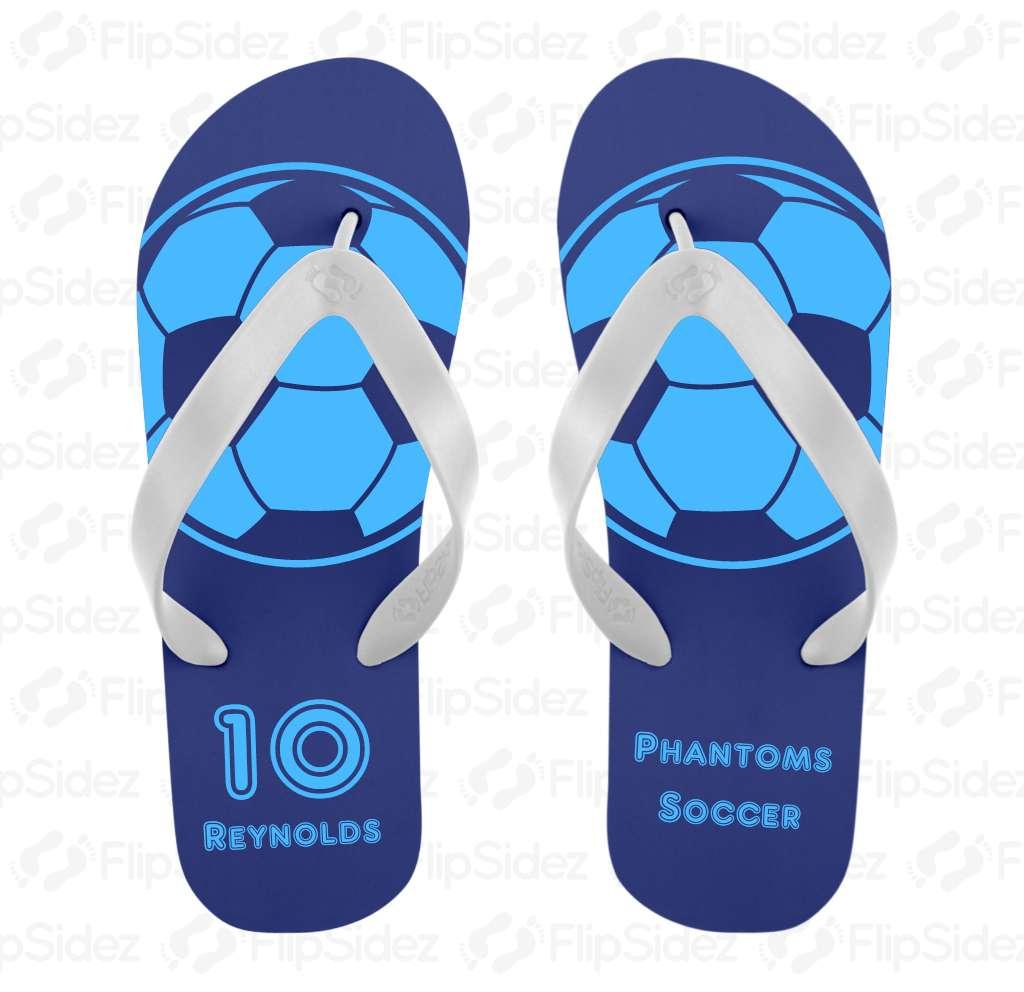 Soccer Team Flip Flops Flip Flops