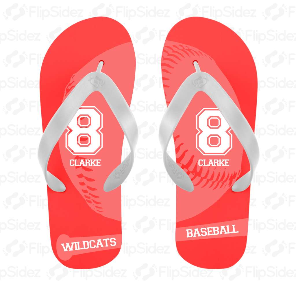 Baseball Player Flip Flops