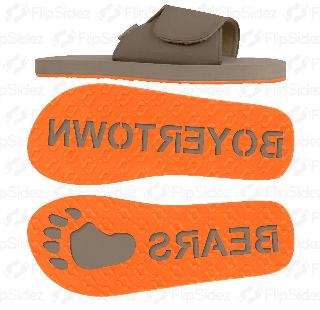 School Team Name Flip Flops