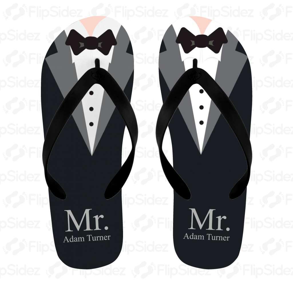 Tuxedo Groom Flip Flops Flip Flops