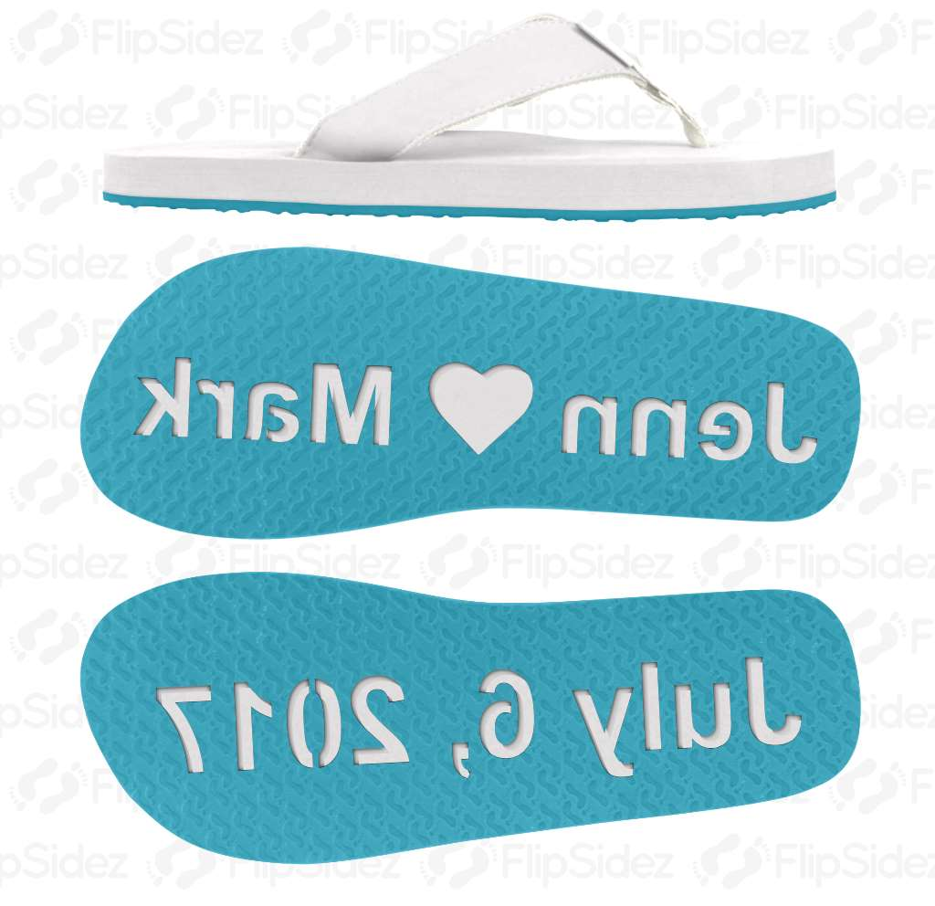 Wedding Date and Names Flip Flops