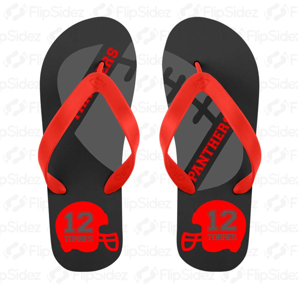 Football Player  Flip Flops