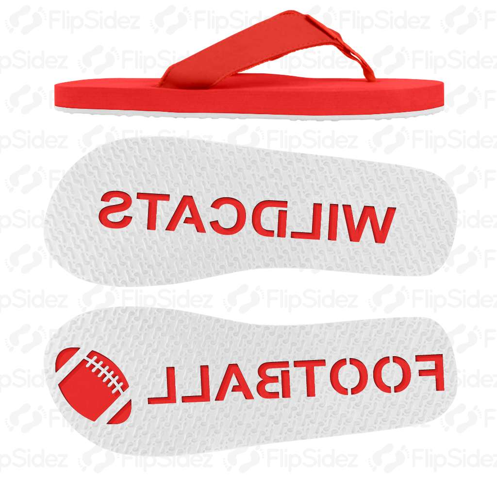 Football Team Name Flip Flops