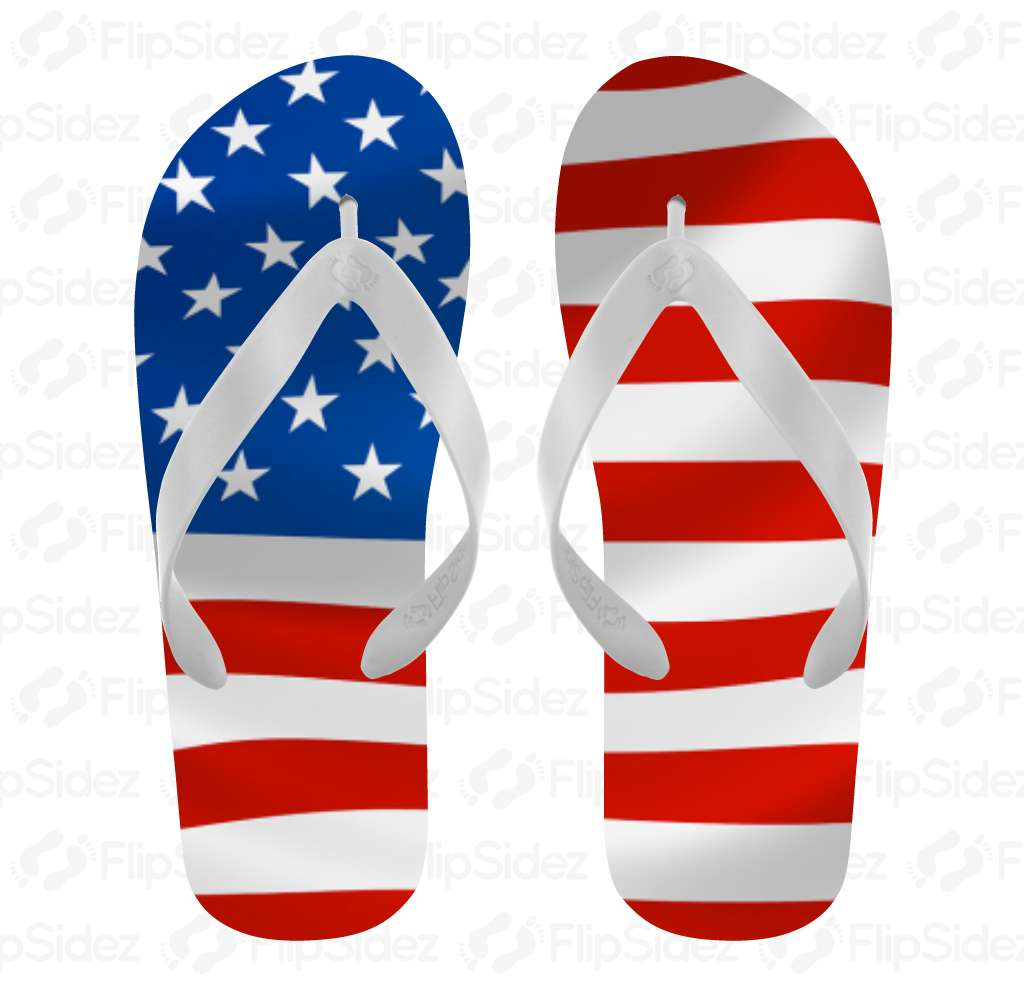 American Flag Flip Flops Flip Flops