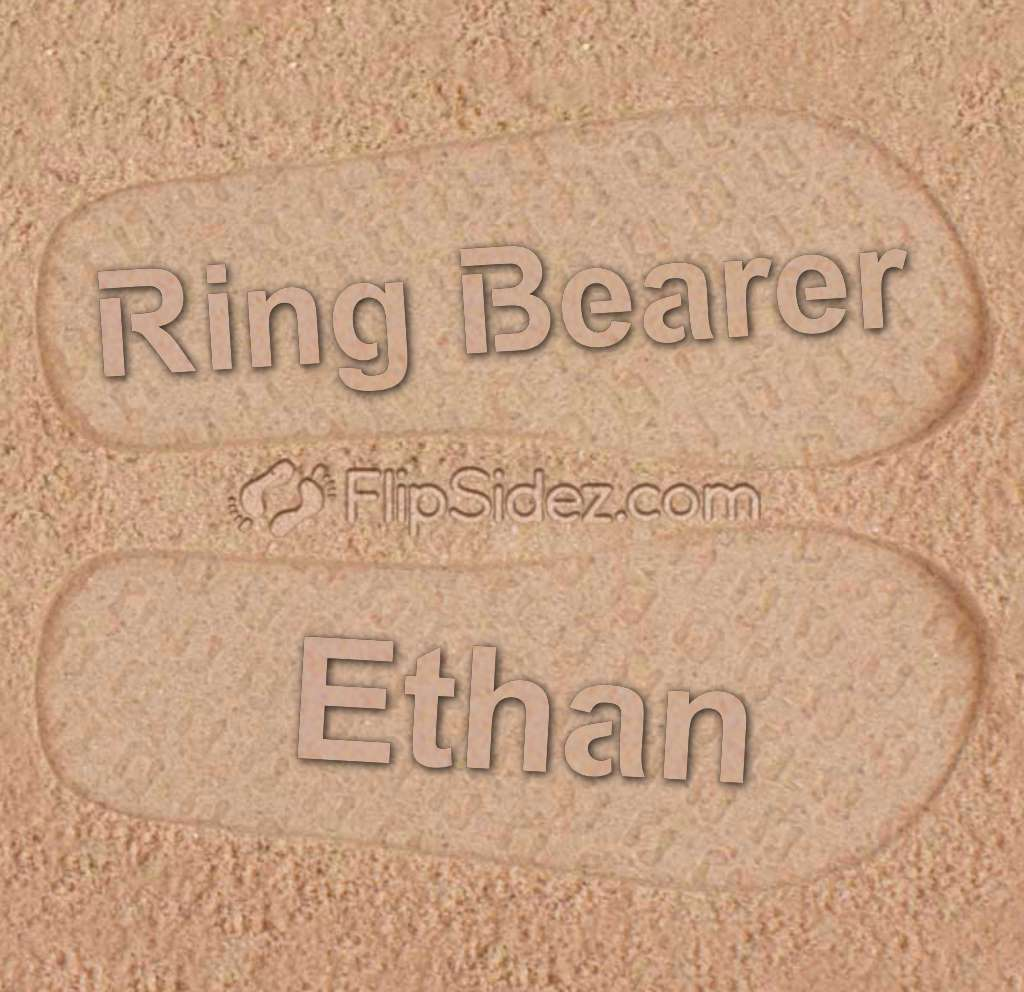 Ring Bearer Flip Flops