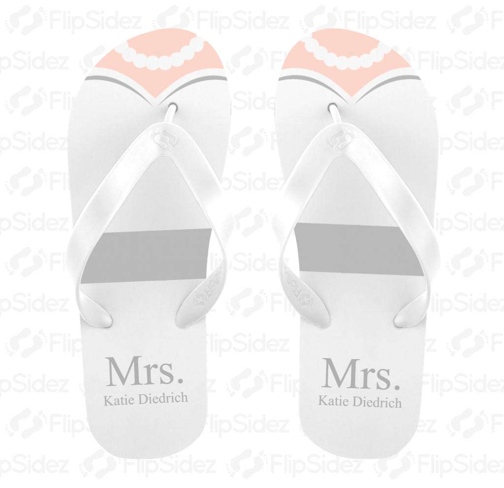 Wedding Dress Flip Flops