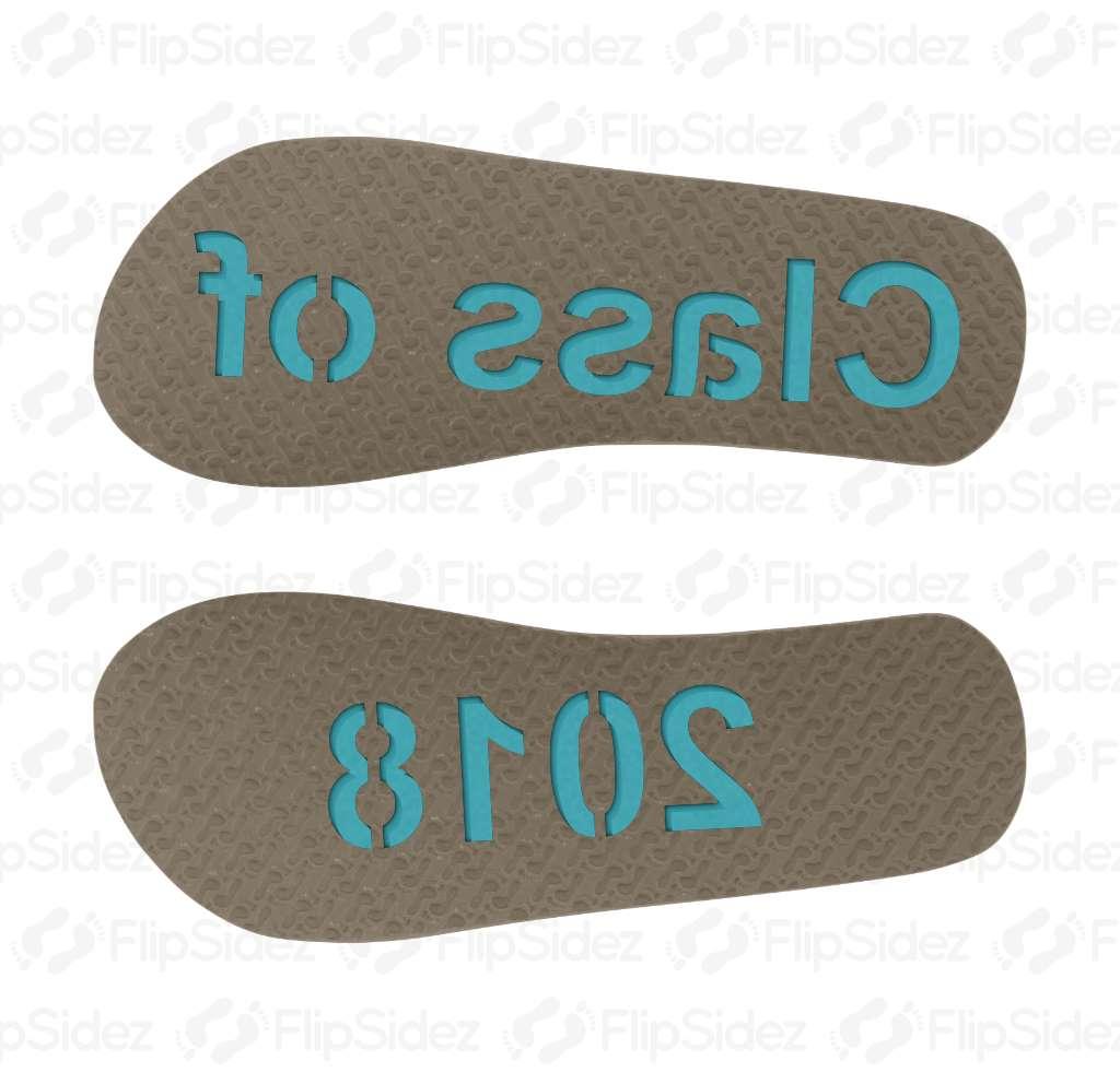 Class of 2018 Flip Flops