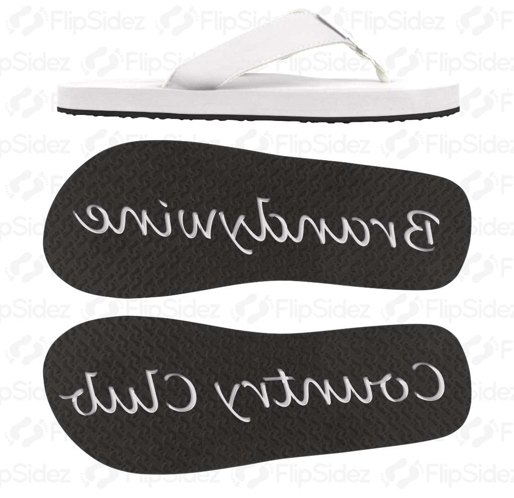 Golf-Club-Name Flip Flops