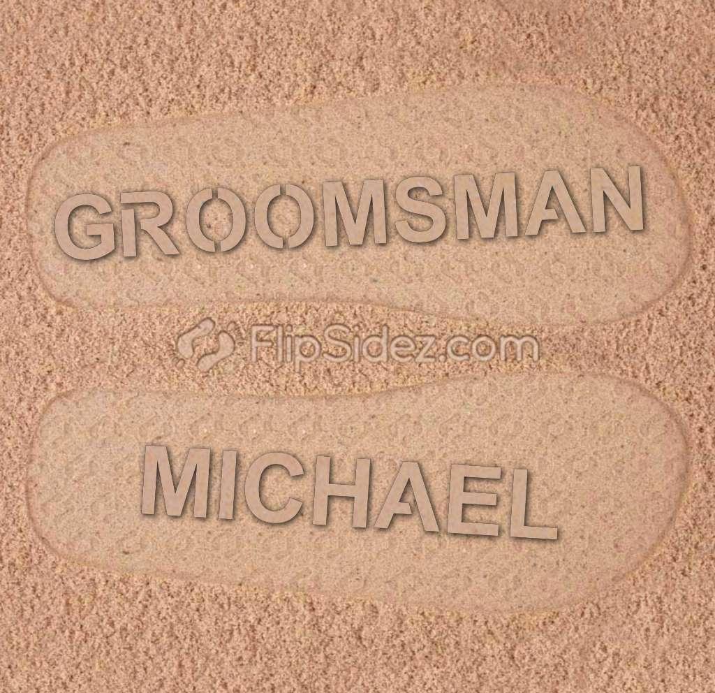 GROOMSMEN Flip Flops