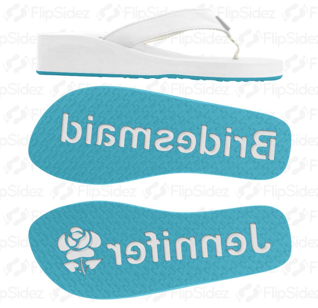 Bridesmaid Personalized Flip Flops