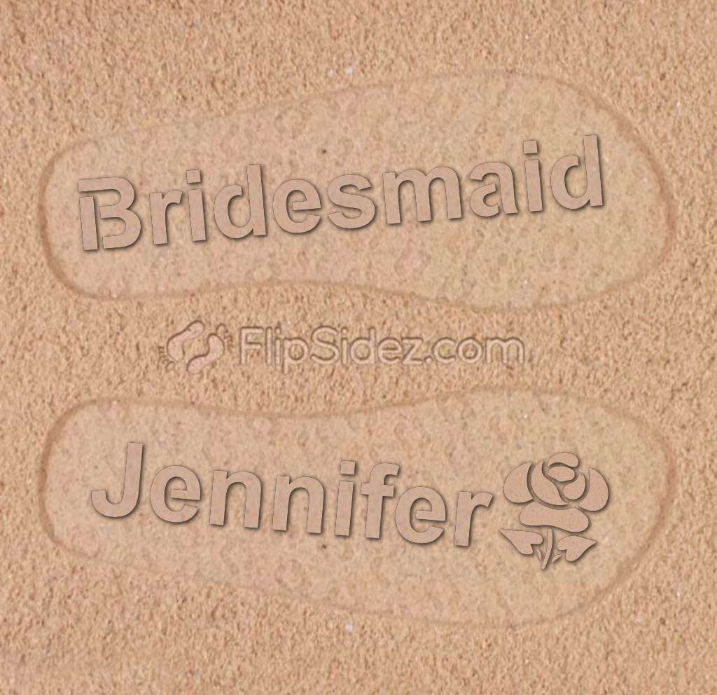 Bridesmaid Personalized Flip Flops
