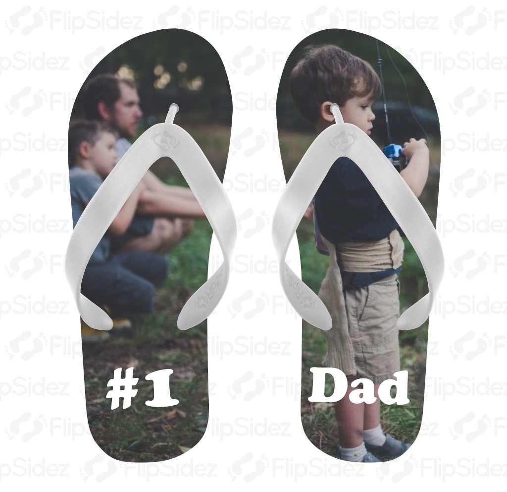 #1 Dad Flip Flops Flip Flops