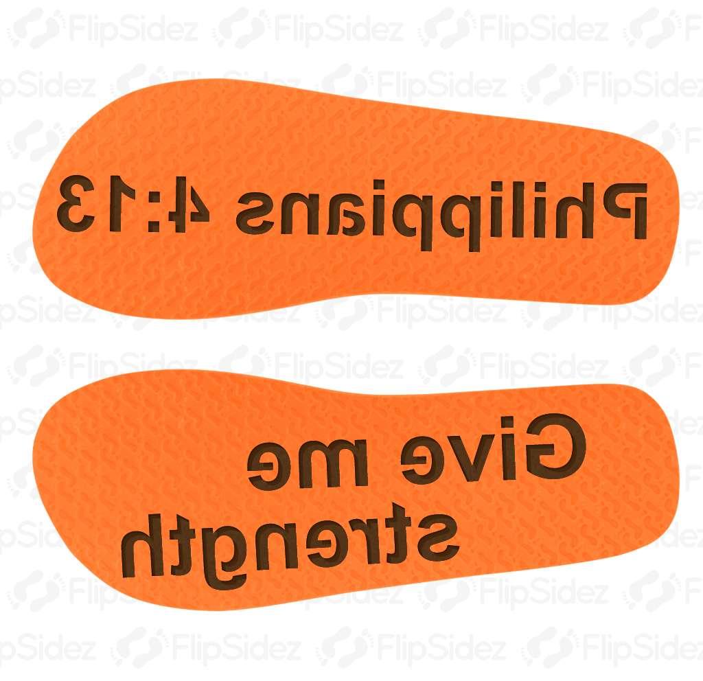 Custom Bible Verse  Flip Flops