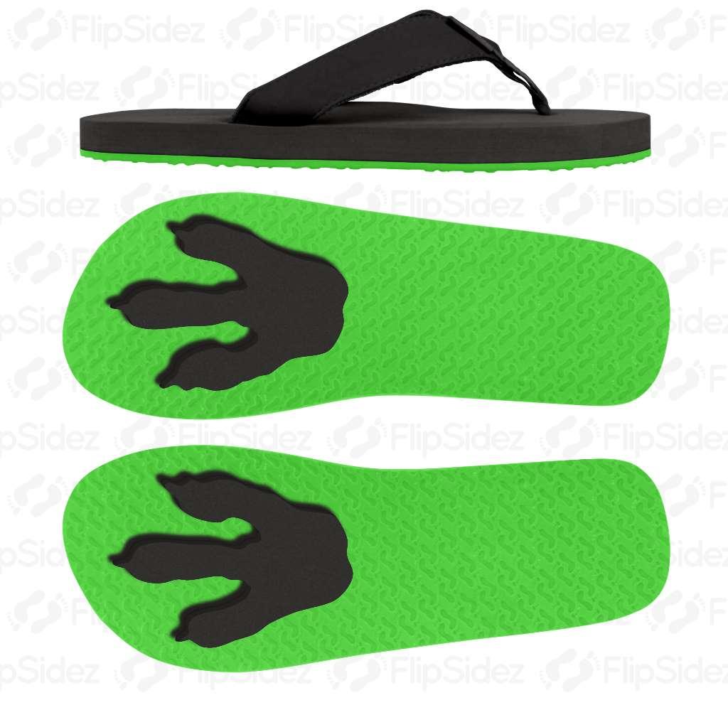 T-Rex Footprints  Flip Flops