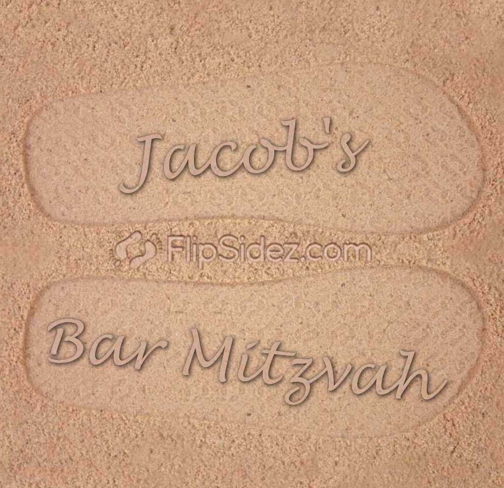Bar Mitzvah Flip Flops