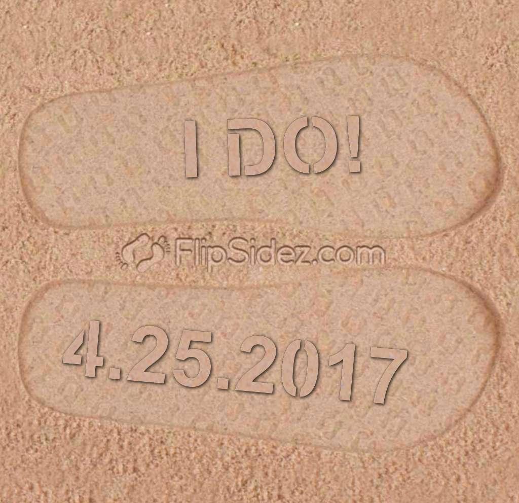 I DO! Wedding Sandals Flip Flops
