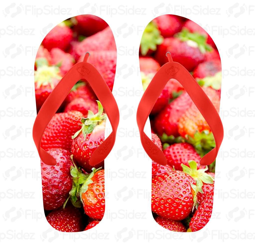 Strawberry Flip Flops Flip Flops