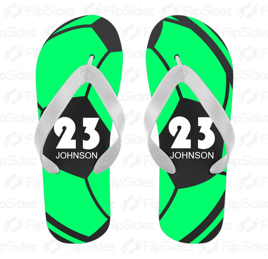 Soccer Player Flip Flops Flip Flops