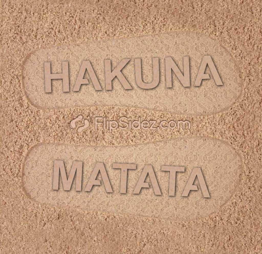 HAKUNA MATATA Flip Flops