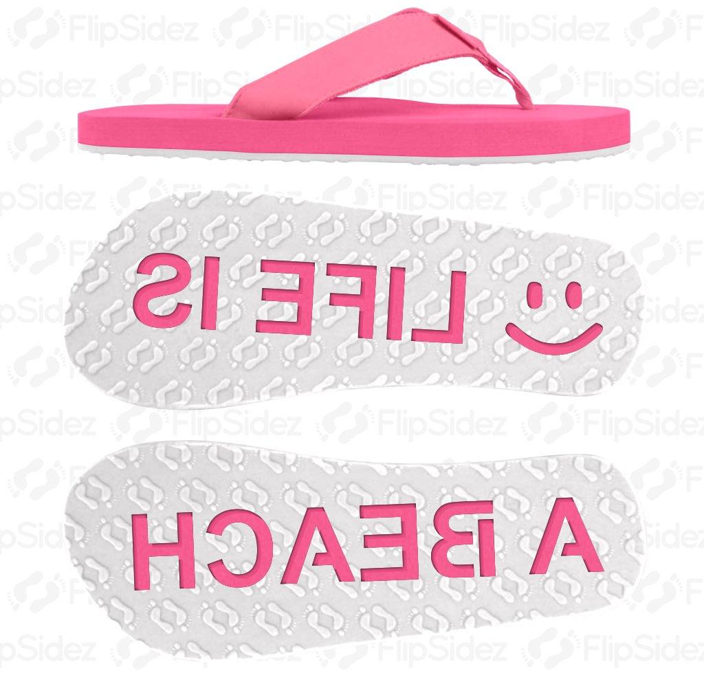 LIFE IS A BEACH Flip Flops