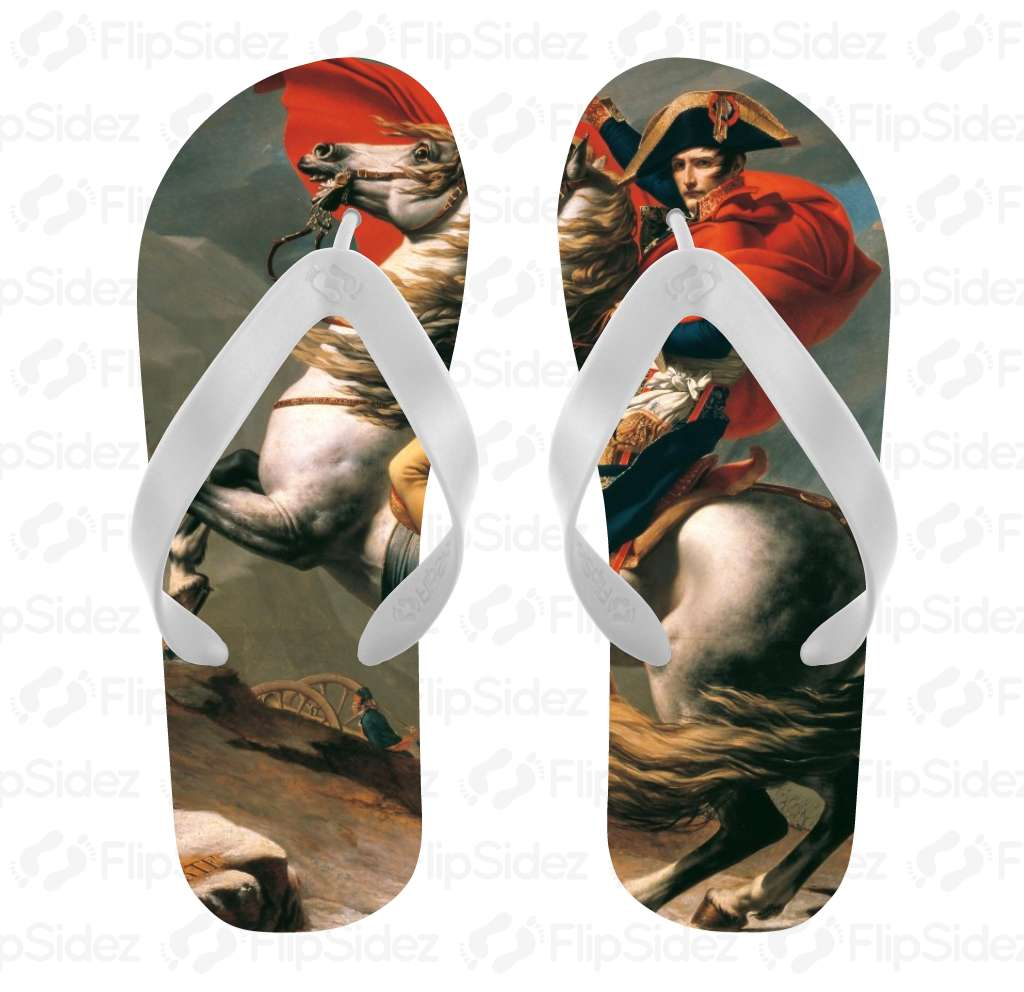 Napoleon Crossing the Alps Flip Flops