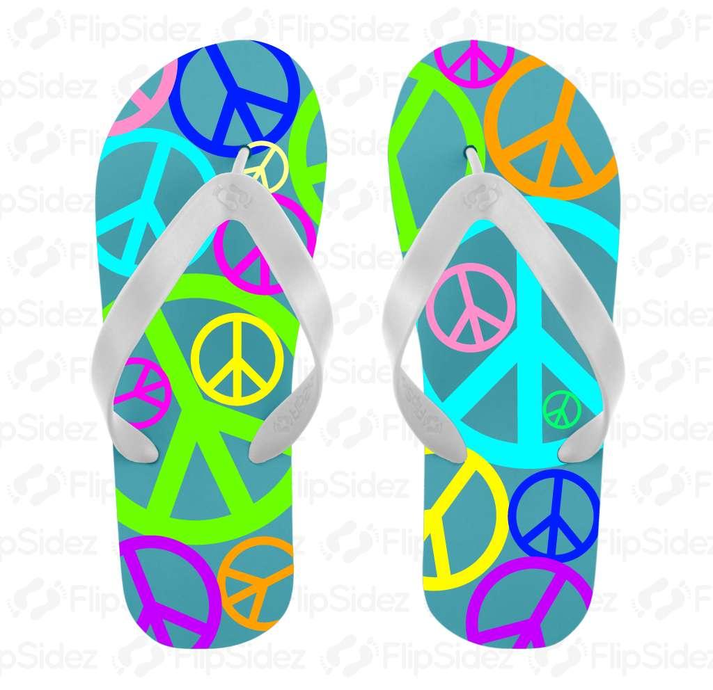 Peace Flip Flops Flip Flops