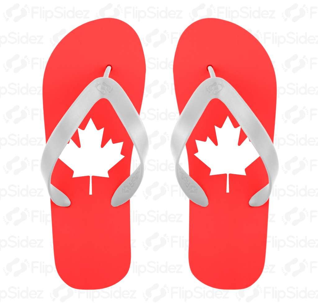 Canadian Maple Leaf Flip Flops Flip Flops