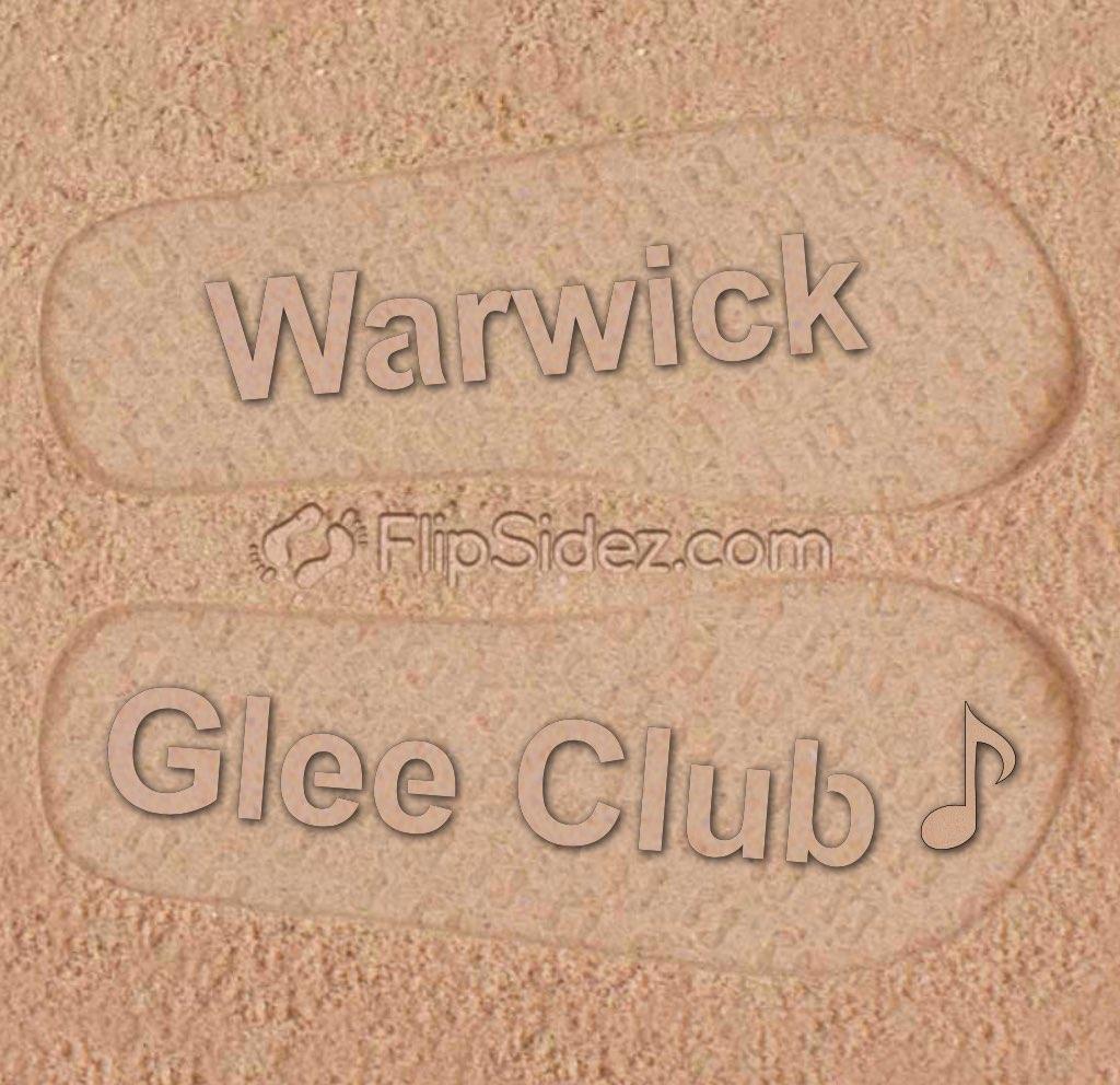 Club Name Flip Flops