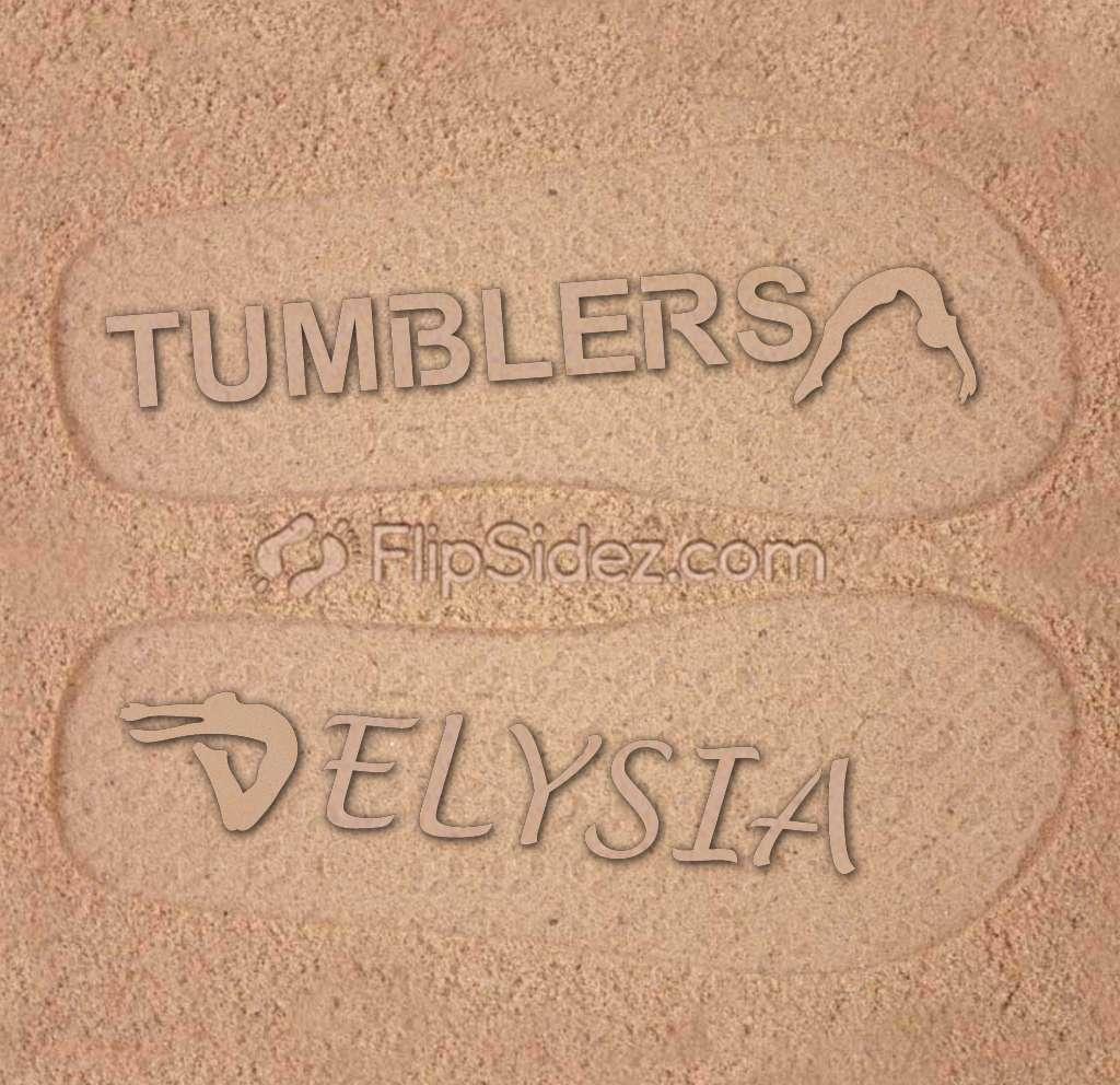 Gymnastics Team Name Flip Flops