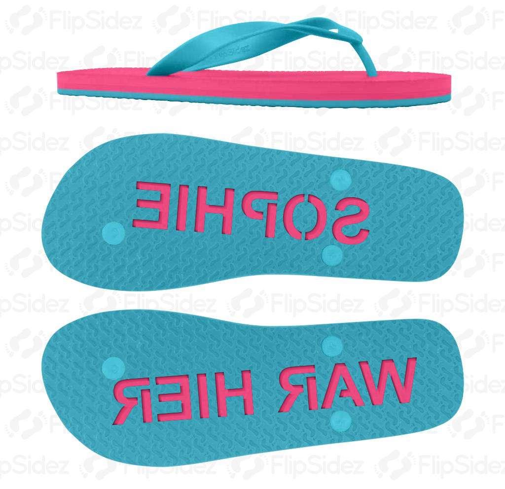 Personalisierte Flip-Flops Flip Flops