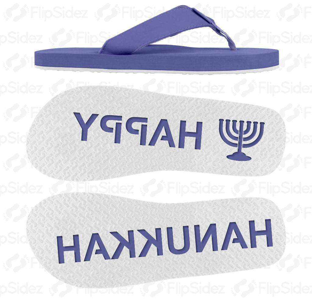 Happy Hanukkah Flip Flops