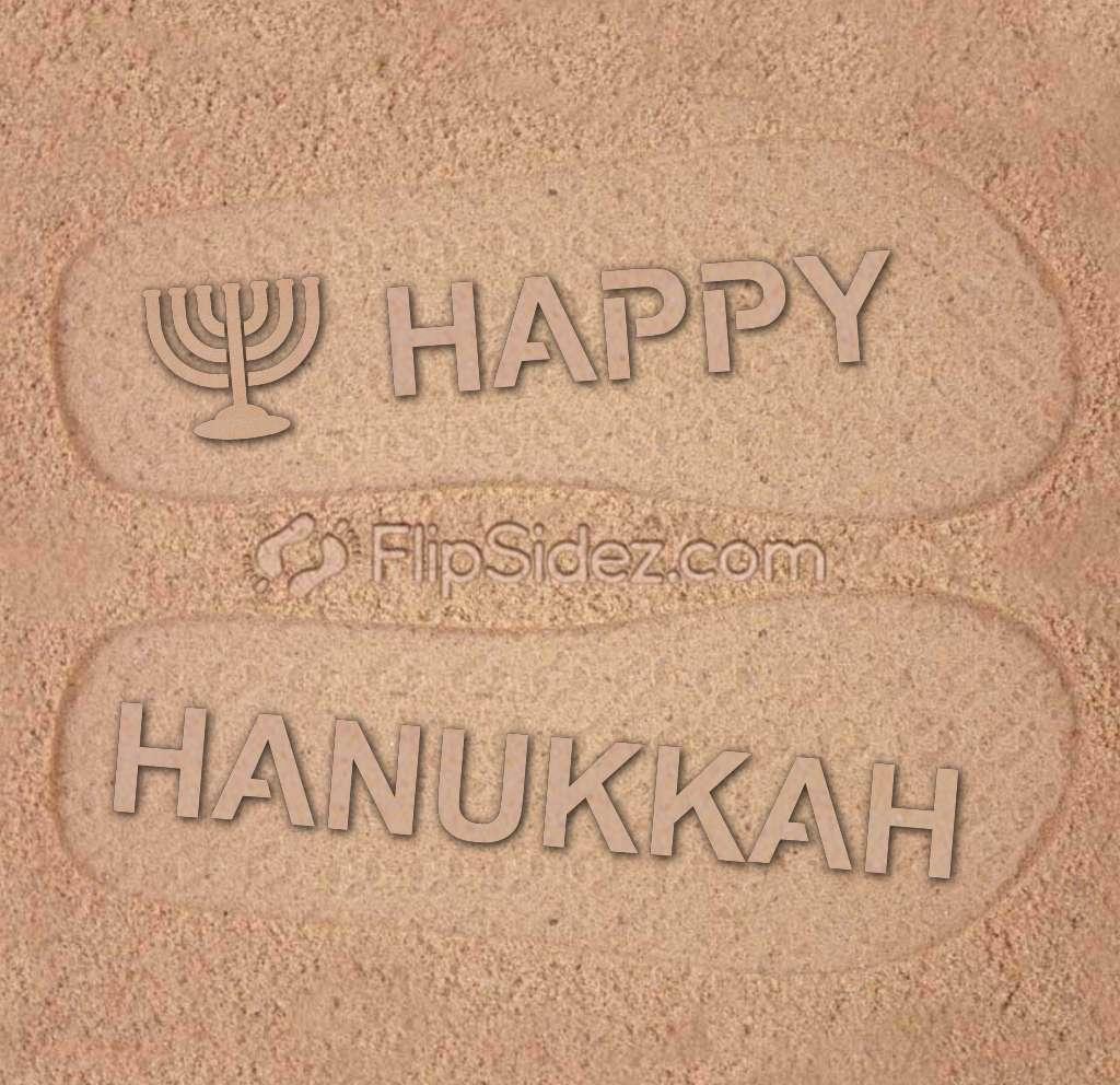 Happy Hanukkah Flip Flops