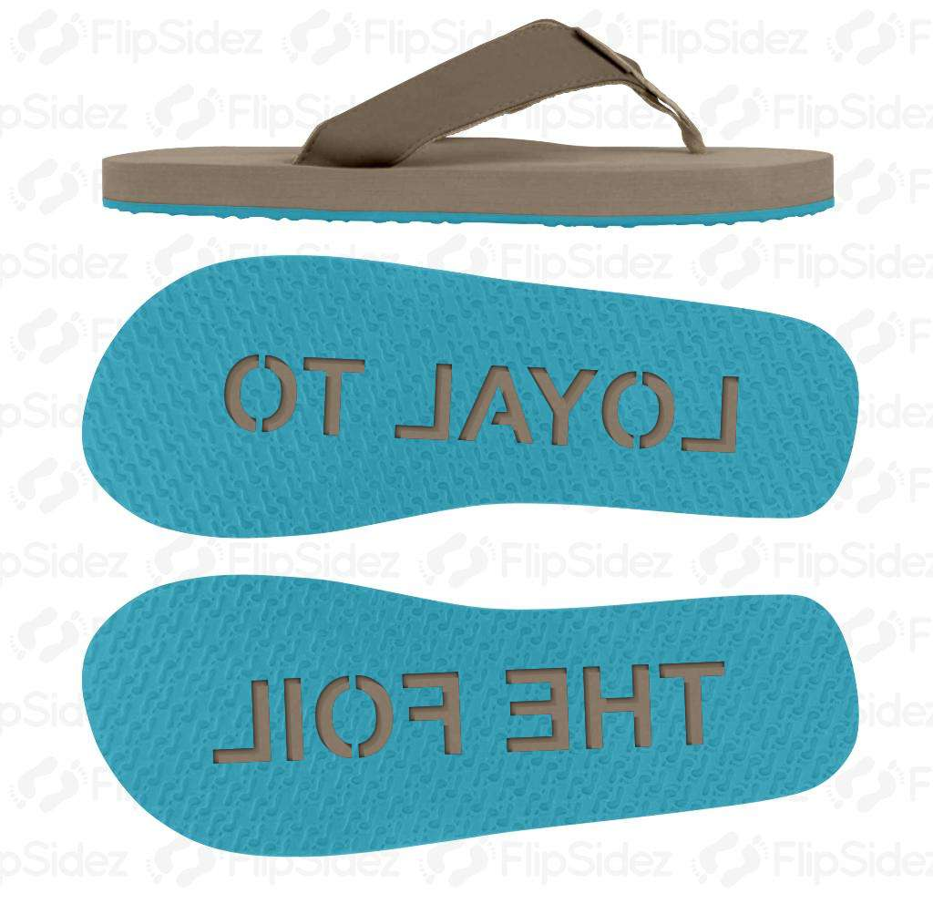 Loyal to the Foil Flip Flops