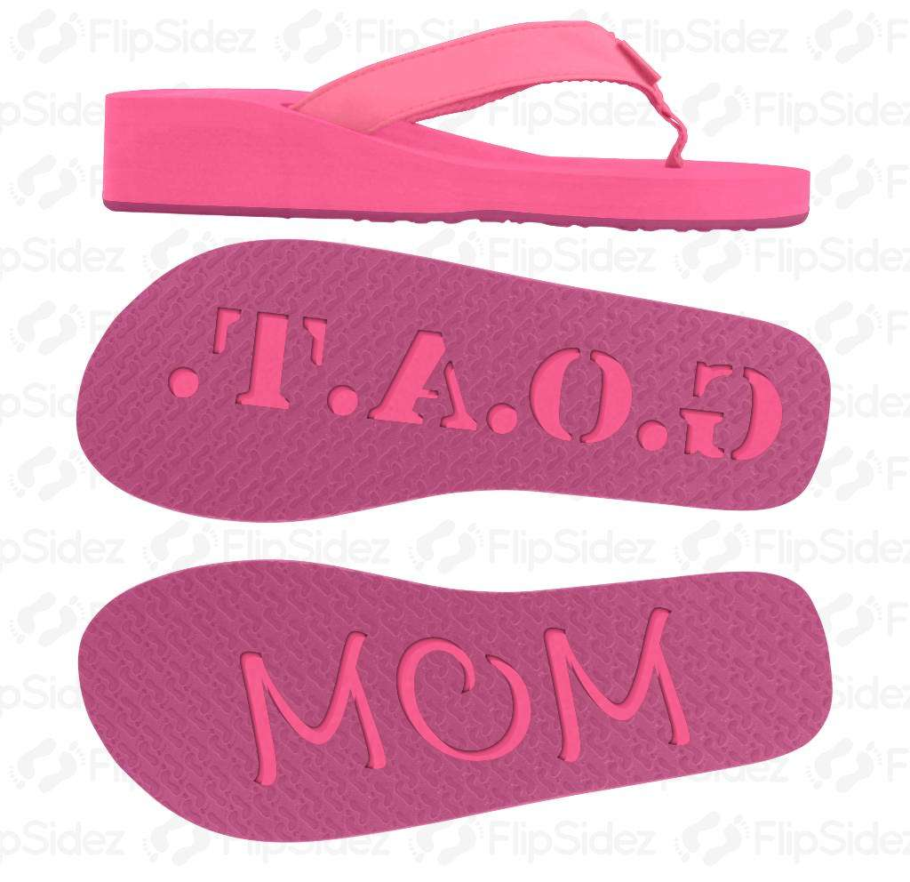 Greatest Of All Time Mom Flip Flops