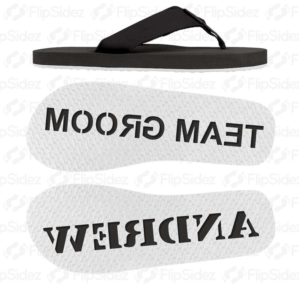Team Groom Flip Flops
