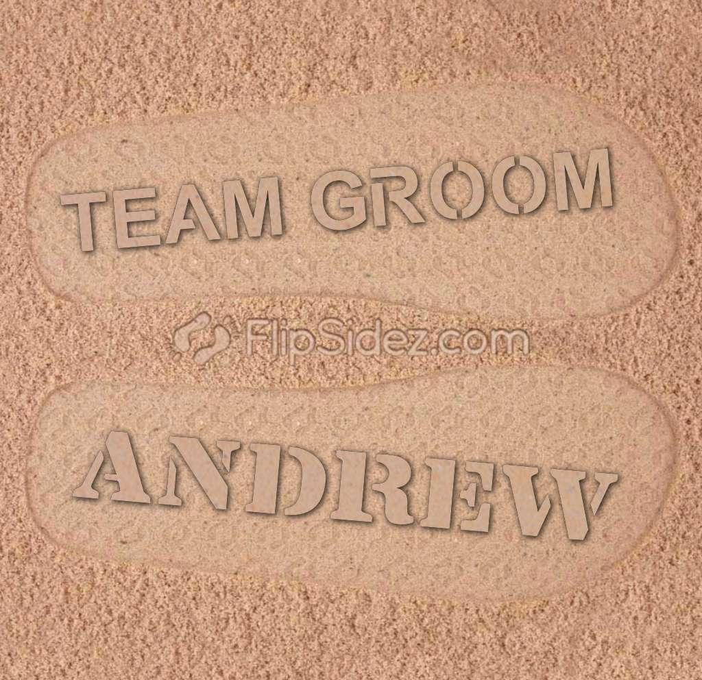 Team Groom Flip Flops
