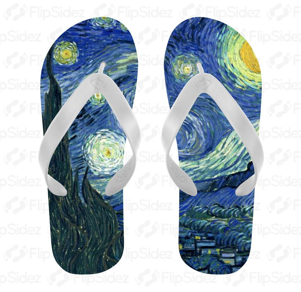 Starry Night Flip Flops Flip Flops