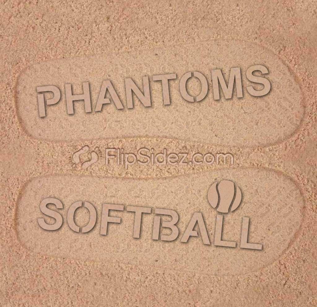 Baseball Softball Team NAME Flip Flops