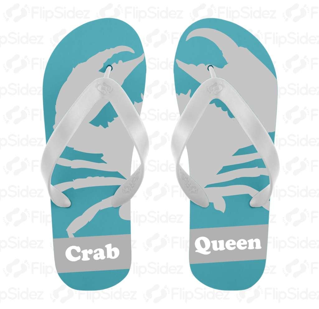 Crab Queen Flip Flops
