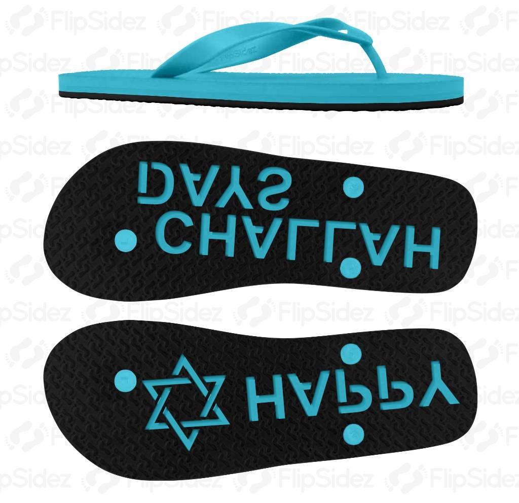 Happy Challah Days Flip Flops
