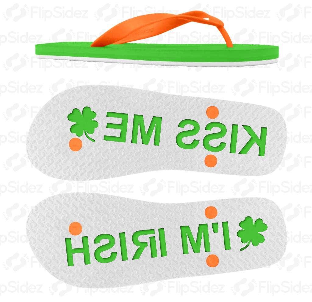 Kiss Me I'm Irish Flip Flops