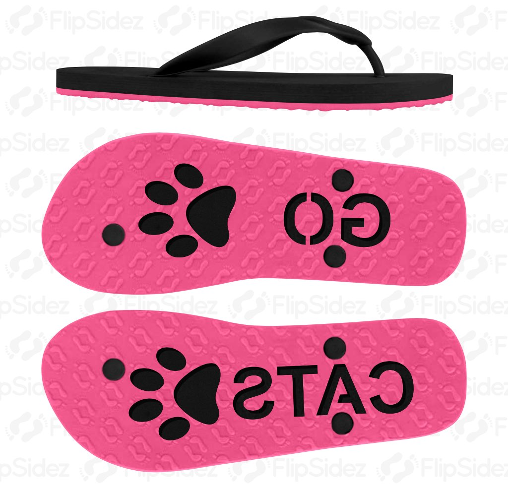 GO Team Name Flip Flops