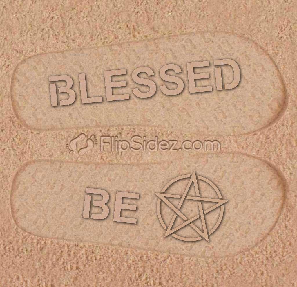 Blessed Be Flip Flops