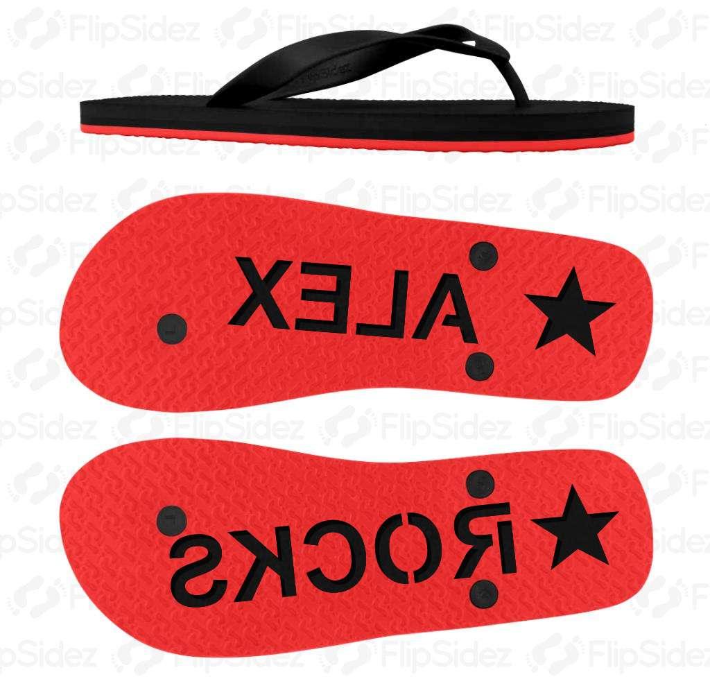 Custom NAME  Flip Flops