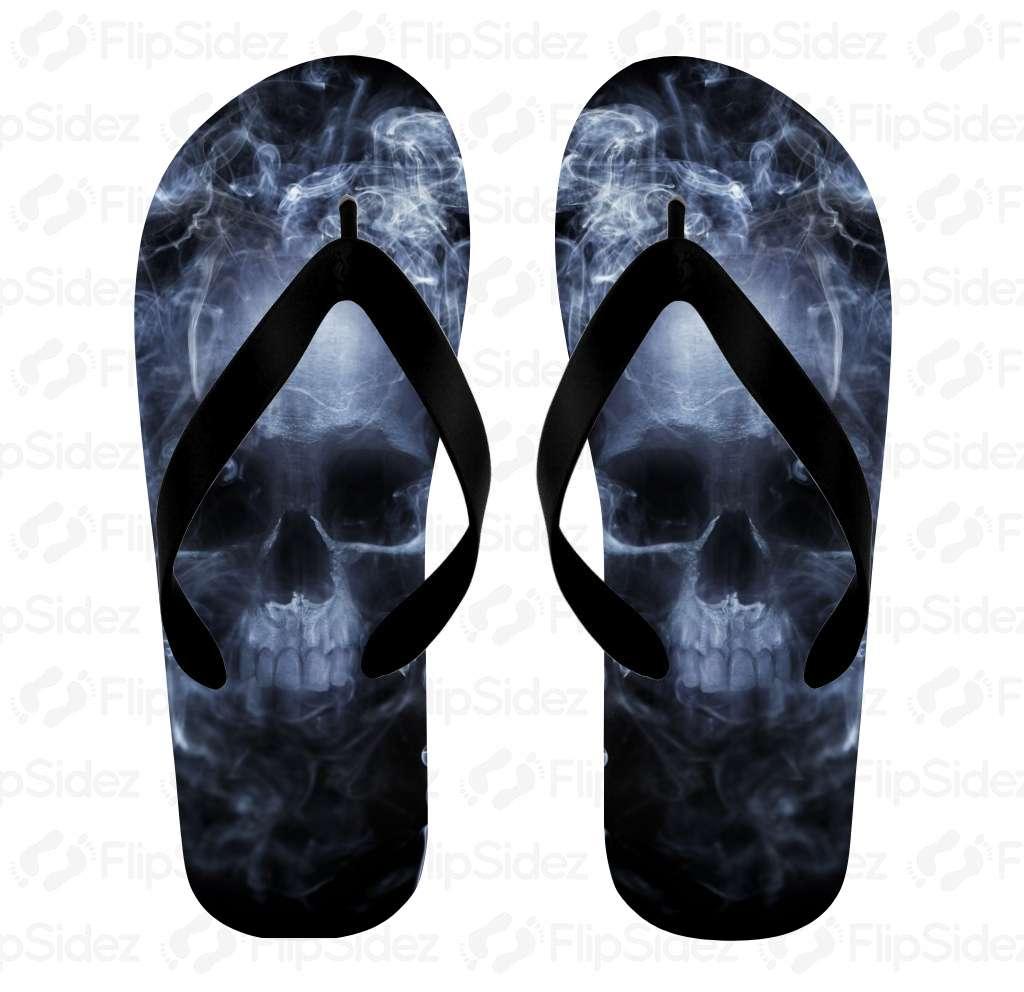 Skull & Smoke Flip Flops