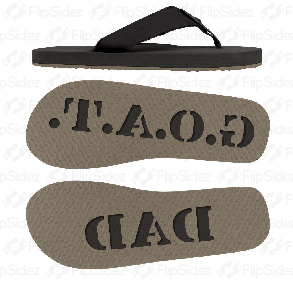 Greatest Of All Time Dad Flip Flops
