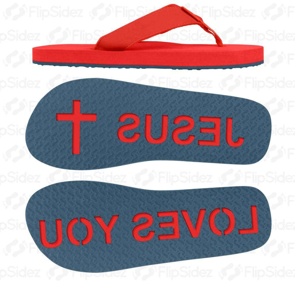 Jesus Loves You Flip Flops