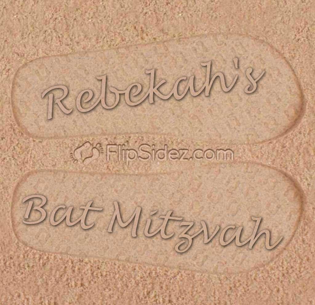 Bat Mitzvah Flip Flops